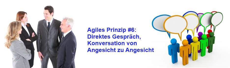 Agiles Prinzip 6: Konversation von Angesicht zu Angesicht